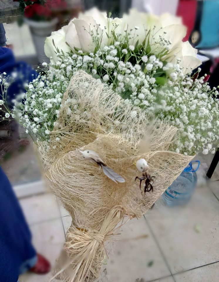 ısparta çiçekçi 40 gül buketi