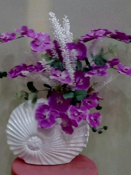 seramik-saksıda-yapay-lila-orkide