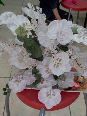 beyaz orkide kuşlar